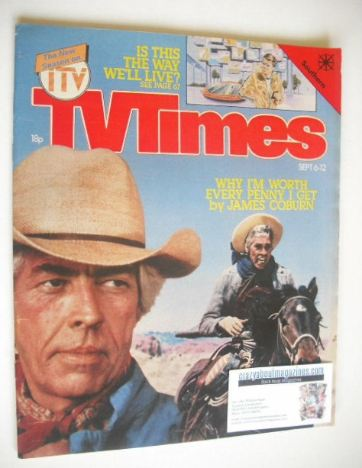 <!--1980-09-06-->TV Times magazine - James Coburn cover (6-12 September 198
