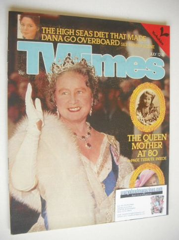 <!--1980-07-12-->TV Times magazine - The Queen Mother At 80 cover (12-18 Ju