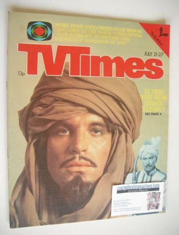 <!--1979-07-21-->TV Times magazine - Oliver Tobias cover (21-27 July 1979)