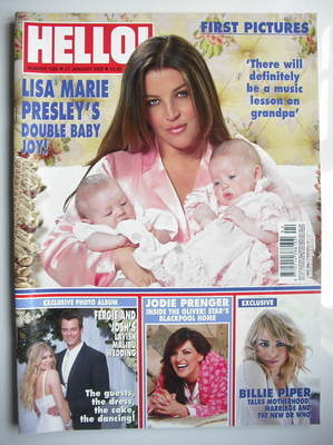 <!--2009-01-27-->Hello! magazine - Lisa Marie Presley cover (27 January 200