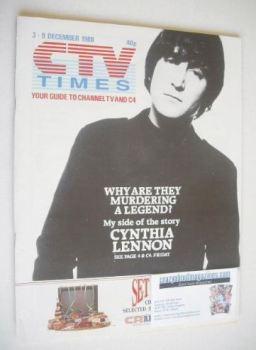 CTV Times magazine - 3-9 December 1988 - John Lennon cover