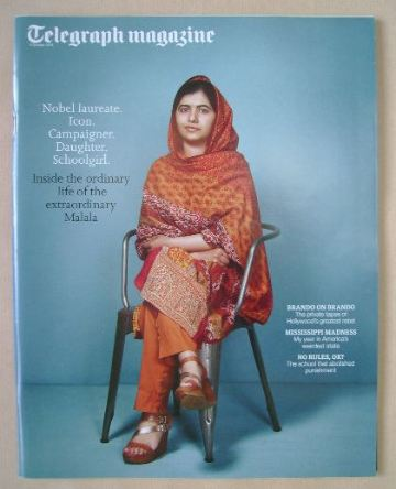 <!--2015-10-17-->Telegraph magazine - Malala Yousafzai cover (17 October 20