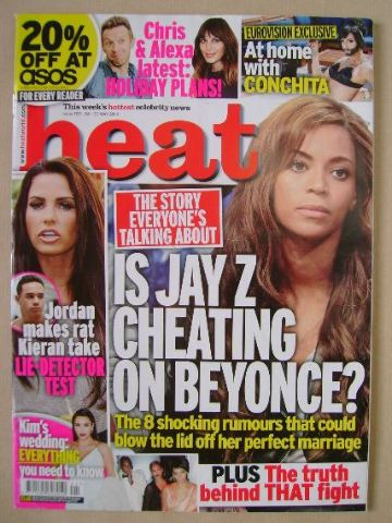 <!--2014-05-24-->Heat magazine - Beyonce cover (24-30 May 2014)