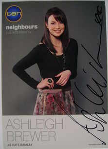 Ashleigh Brewer autograph (Neighbours actor)