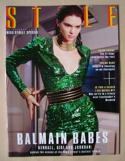 <!--2015-10-18-->Style magazine - Kendall Jenner cover (18 October 2015)