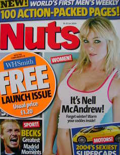 Nuts magazine - Nell McAndrew cover (16-22 January 2004 - 1st Issue)