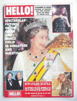 <!--1989-10-28-->Hello! magazine - Queen Elizabeth II cover (28 October 198