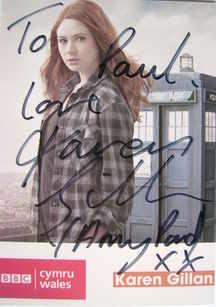 Karen Gillan autograph