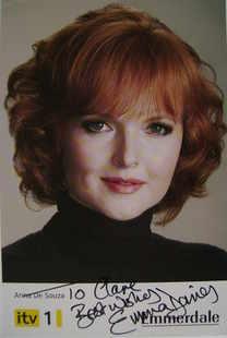 Emma Davies autograph (ex Emmerdale actor)