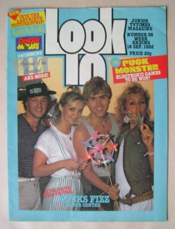 <!--1982-09-18-->Look In magazine - Bucks Fizz cover (18 September 1982)