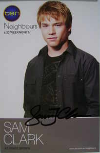Sam Clark autograph (Neighbours actor)
