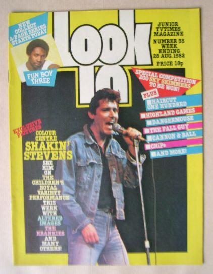 <!--1982-08-28-->Look In magazine - Shakin' Stevens cover (28 August 1982)
