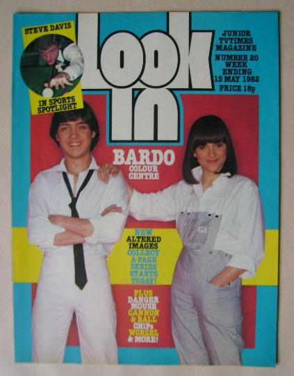<!--1982-05-15-->Look In magazine - Bardo cover (15 May 1982)
