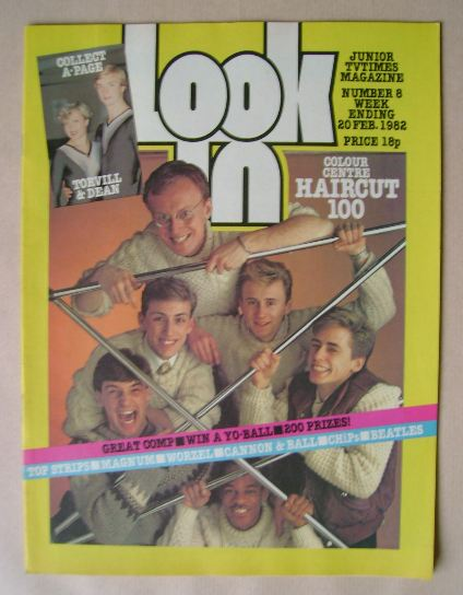 <!--1982-02-20-->Look In magazine - Haircut One Hundred cover (20 February