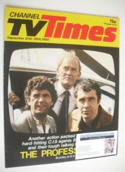 CTV Times magazine - 20-26 September 1980 - The Professionals cover