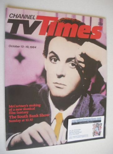 <!--1984-10-13-->CTV Times magazine - 13-19 October 1984 - Paul McCartney c