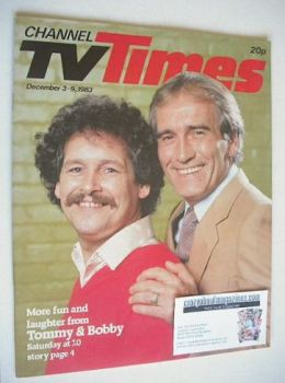 CTV Times magazine - 3-9 December 1983 - Cannon and Ball cover
