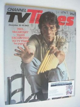 CTV Times magazine - 10-16 December 1983 - Paul McCartney cover