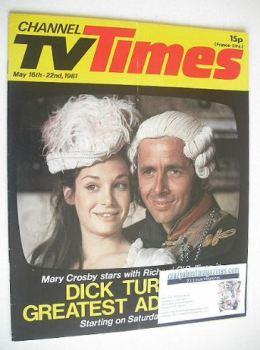<!--1981-05-16-->CTV Times magazine - 16-22 May 1981 - Mary Crosby and Richard O'Sullivan cover