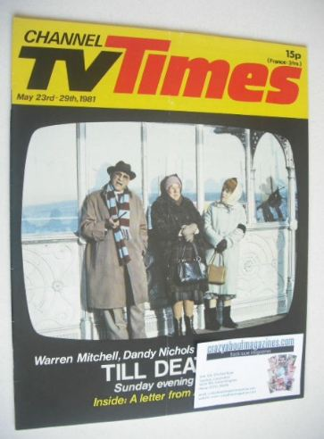 <!--1981-05-23-->CTV Times magazine - 23-29 May 1981 - Till Death cover