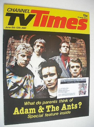 <!--1981-06-06-->CTV Times magazine - 6-12 June 1981 - Adam & The Ants cove