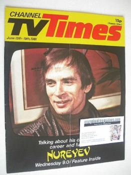 CTV Times magazine - 13-19 June 1981 - Rudolf Nureyev cover