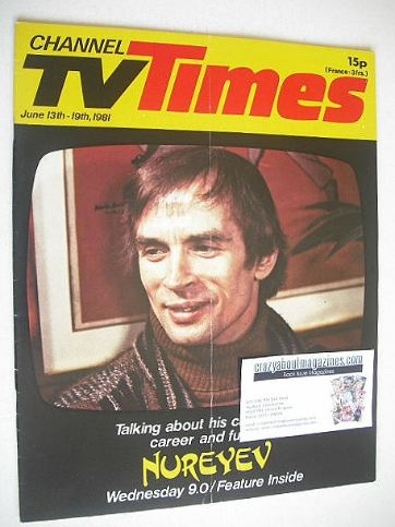 <!--1981-06-13-->CTV Times magazine - 13-19 June 1981 - Rudolf Nureyev cove