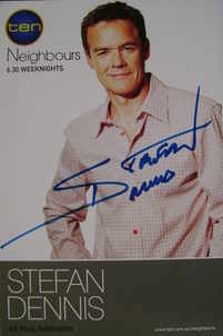 Stefan Dennis autograph (Neighbours actor)