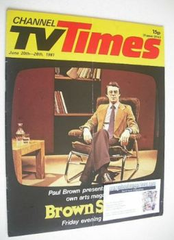 <!--1981-06-20-->CTV Times magazine - 20-26 June 1981 - Brown Study cover