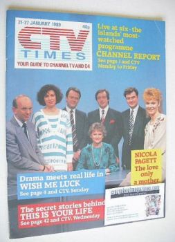 CTV Times magazine - 21-27 January 1989 - Channel Report cover