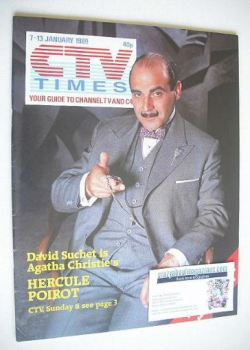 CTV Times magazine - 7-13 January 1989 - David Suchet cover