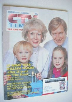 CTV Times magazine - 31 December 1988 - 6 January 1989 - William Roache cover