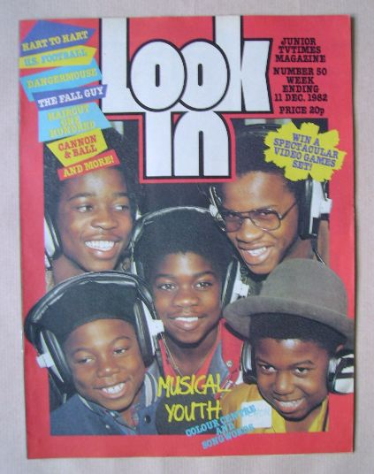 <!--1982-12-11-->Look In magazine - Musical Youth cover (11 December 1982)