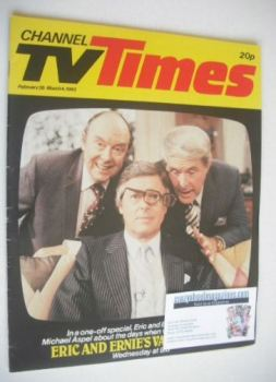 CTV Times magazine - 26 February - 4 March 1983 - Eric, Ernie & Michael cover