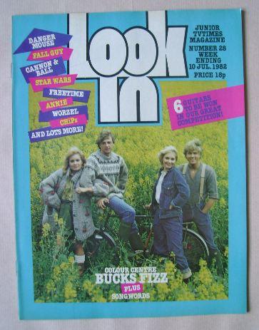 <!--1982-07-10-->Look In magazine - Bucks Fizz cover (10 July 1982)