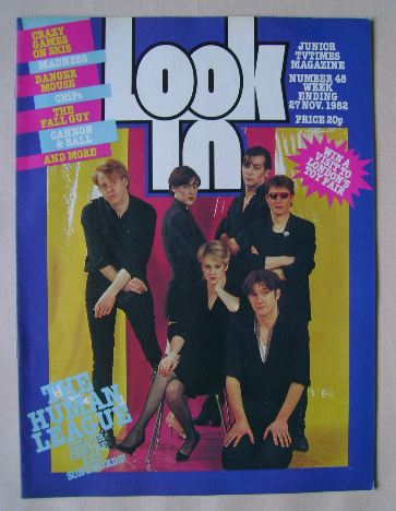 <!--1982-11-27-->Look In magazine - Human League cover (27 November 1982)
