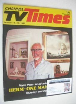 CTV Times magazine - 10-16 October 1981 - Major Peter Wood cover