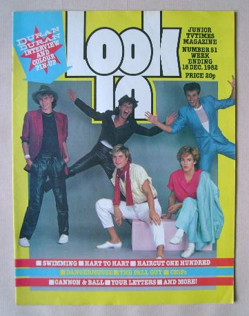 <!--1982-12-18-->Look In magazine - Duran Duran cover (18 December 1982)
