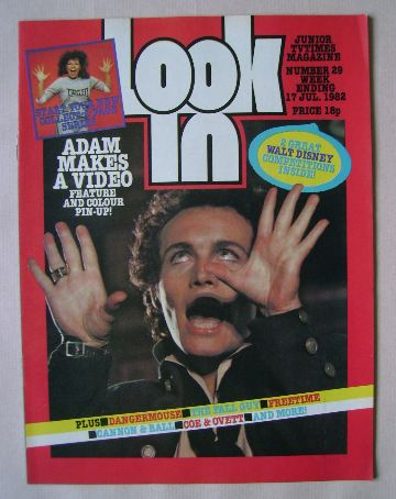 <!--1982-07-17-->Look In magazine - Adam Ant cover (17 July 1982)