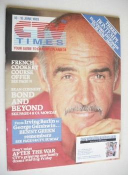 CTV Times magazine - 10-16 June 1989 - Sean Connery cover