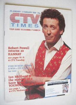 CTV Times magazine - 28 January - 3 February 1989 - Robert Powell cover
