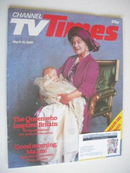 CTV Times magazine - 4-10 May 1985 - The Queen Mother cover