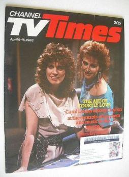 CTV Times magazine - 9-15 April 1983 - Carol Leader & Rosy Clayton cover