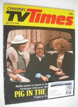 CTV Times magazine - 2-8 April 1983 - Pig In The Middle cover