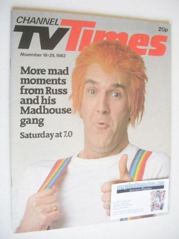 <!--1983-11-19-->CTV Times magazine - 19-25 November 1983 - Russ Abbott cov