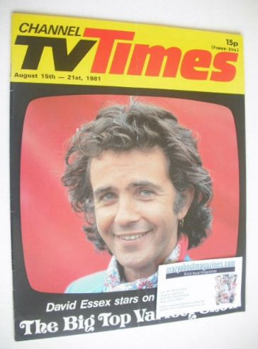 <!--1981-08-15-->CTV Times magazine - 15-21 August 1981 - David Essex cover