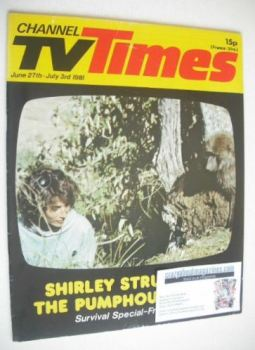 CTV Times magazine - 27 June - 3 July 1981 - Shirley Strum cover