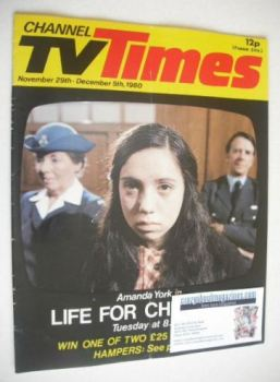 CTV Times magazine - 29 November - 5 December 1980 - Amanda York cover