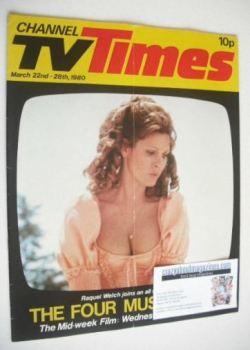 CTV Times magazine - 22-28 March 1980 - Raquel Welch cover