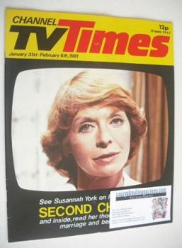 CTV Times magazine - 31 January - 6 February 1981 - Susannah York cover